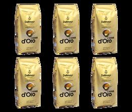 6x Dallmayr Crema d'Oro kawa ziarnista 1kg