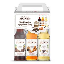 Zestaw kawowy syropów Monin 3x250ml- Coffee Set