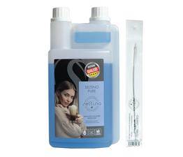 Płyn czyszczący system spieniania mleka Seltino Pure 1000ml + szczoteczka